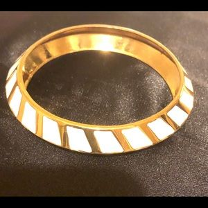 Vince Camuto Gold Tone Bangle with Cream Enamel